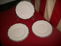 "LOT OF 3 VTG Syracuse China Scalloped Edge 6"" Dessert  Plates Manhattan Pattern"