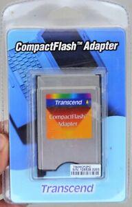 Transcend Compact Flash Adapter TSOMCF2PC  NEW (C5)