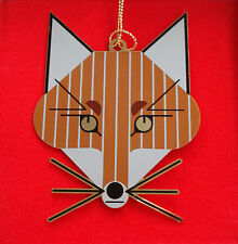 Charlie/ Charley Harper- Brass Christmas Ornament - FOX - fun artistic animal