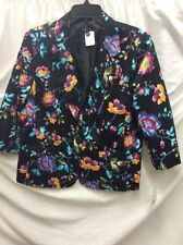 NWT! NOTATIONS LADY'S JACKET/BLAZER SIZE PXL, MULTI-COLOR, 1 BUTTON UP