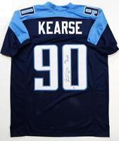 Jevon Kearse Autographed Blue Pro Style Jersey w/ The Freak! - Beckett Auth *0