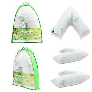 New Bamboo V-Shape Pillow Memory Foam Pillow Anti Bacterial Allergenic Shredded