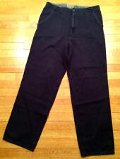 Quicksilver Qsd dark blue corduroy pants extra baggy 34 90s grunge skater sk8r