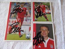 Mark van Bommel ** signiert ** 4 x Panini Sticker 2009-10 09/10 Nr. 63 64 65 67