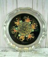 Vintage Unique 1960's Rein Zinn Decorative Plate with Switzerland Alp Flowers