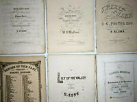 1840s-50s LOT of Large Sheet Music Spirit Polka Piano Forte Miss Lucy Antique