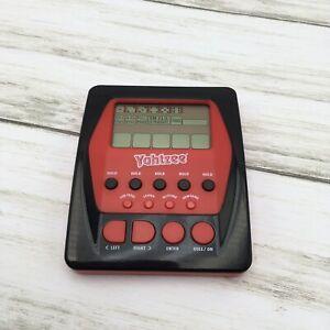 2012 Hasbro Yahtzee Electronic Handheld Electronic Travel Game Red Black