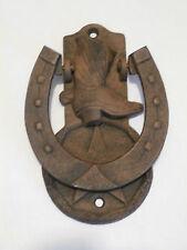 Cowboy Boot And Horseshoe Door Knocker Cast Iron