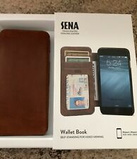 Sena Handcrafted Genuino LeatherWallet Estilo Libro Caja Iphone 6