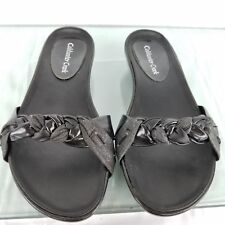 ColdWater Creek Womens Slip on Sandals Black Size 6