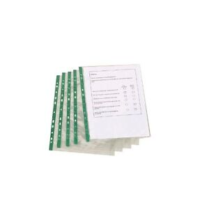 A4 Pockets Glass Multi Punched Pack of 100 Clear Anti-Glare Lever Arch Binder