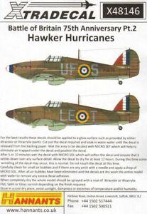 Xtradecal 1/48 Hawker Hurricane Mk.I 1940 Battle of Britain Pt.2  - X48146