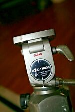 """Hollywood Chicago Vintage Camera Tripod Made in Japan Approx 21"""" to 33""""  Works!"""