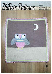 Crochet Pattern for Hootie Tootie Owl Blanket, Baby balnket, Baby Crochet Pat...