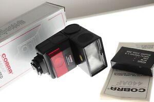 Cobra 440AF Nikon AF dedicated bounce zoom flashgun. MINT unused boxed cond.