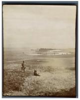 Algérie, Enfants sur le champ  Vintage citrate print.  Tirage citrate  9x12
