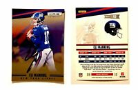 Eli Manning Signed 2012 Rookies and Stars Longevity #93 Card NY Giants Autograph