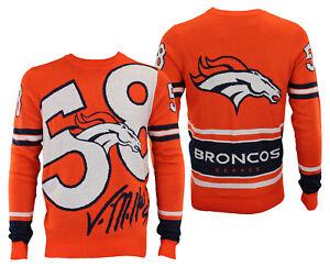 Forever Collectibles NFL Men's Denver Broncos V. Miller #58 Loud Player Sweater