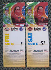 RARE 1999 MARLBORO 500 2 TICKETS WITH HOLDER NASCAR WINSTON TRUCK SERIES