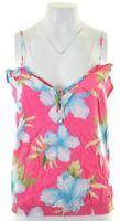 HOLLISTER Womens Vest Top Size 12 Medium Multicoloured Floral Cotton  AR09