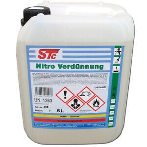 5 L STC Nitro Verdünnung Nitroverdünnung Verdünner Reiniger Waschverdünner
