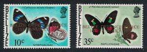 Belize Butterflies Ovpt 2v 1978 MNH SG#462-463
