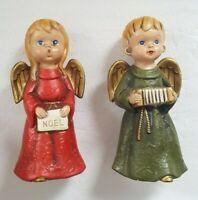 Vintage Paper Mache Hand Painted Christmas Angels Choir Figurine Holmar Japan