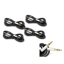 4PCS 3FT 3.5MM AUX AUDIO STEREO CABLE BLACK SAMSUNG GALAXY S2 S3 NOTE NEXUS LTE