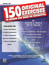 150 Original Exercises in Unison for Band or Orchestra-Drums Music Book-New-Sale