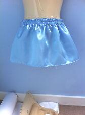 baby blue satin skirt tutu adult baby adult child sissy cd tv fancy dress 36-40