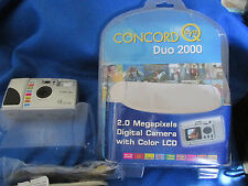CONCORD  eye Q DUO 2000 DIGITAL CAMERA WITH 2.0 MEGA PIXEL LENS 4X/POINT & SHOOT