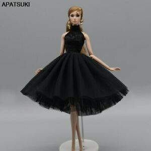 """Black High Neck Ballet Dress For 11.5"""" Doll Outfits 1/6 Doll Accessories Clothes"""