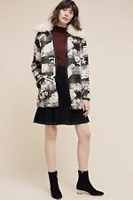 NWT Anthropologie by Hei Hei Cloudscape Car Coat Cloud Black White Large NEW