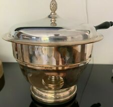 Sheffield Chafing Dish Complete Set E.P.C. Made In U.S.A. No Reserve Rare Look!