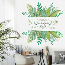 Green Leaves Tropical Wall Sticker Decals Vinyl Home Room Mural Decor Removable
