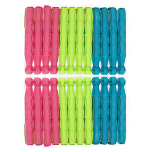 24 Dolly Pegs | Strong High Quality Plastic for Laundry Washing Clothes Line