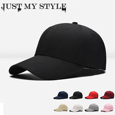 Black Men Women Black Baseball Cap Snapback Hat Hip-Hop Adjustable Bboy Caps