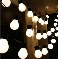 100M STRING LIGHTS OUTDOOR GARDEN PARTY FESTOON LED BULB WEDDING GLOBE UK