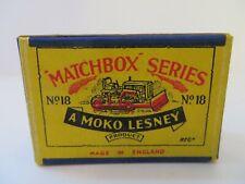 Matchbox Moko Lesney Bulldozer 18a Type B1 EMPTY ORIGINAL BOX ONLY VNM VERY RARE