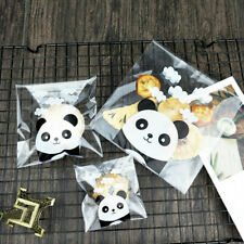 100x Panda Self-adhesive Bags Plastic Candy Cookie Gift Package Cellophane Party