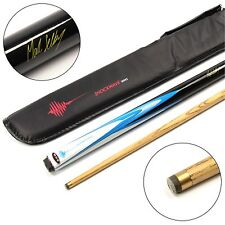 AEC Mark Selby eléctrico Shockwave 2pc ceniza Pool Snooker Cue & Soft Case