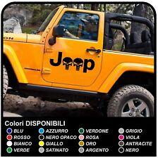 adesivi laterali per jeep Wrangler e Renegade  portiera teschio Punisher