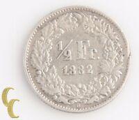 1882-B Switzerland 1/2 Franc (Very Fine+, VF+) Berne Swiss Silver Half KM-23