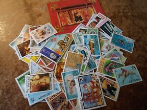 Collection lot 75 different stamps of Grenada