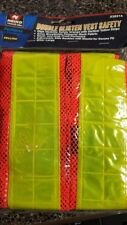Lot of 8 NEW Safety Vest Double Glisten Increases Visability Outdoors/Roadways