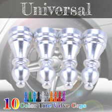 Auto Car Tire Tyre Silver Wheel Air Port Dust Cover Trim Valve Stem Caps Alloy