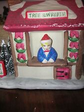 "Rex & Lee  4 1/2"" Tall Tree & Wreath for sale Christmas Building Bargain #15"