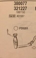 Cat 380077 for Ford Focus 1.8i   1796cc   08/98-08/00
