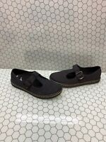 Dr. Martens WOOLWICH Black Canvas Mary Jane Oxfords Flats Women's Size 8