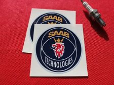 Pair of Saab Technologies stickers